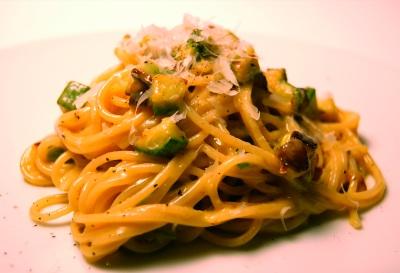 Spaghetti carbonara alle zucchine3